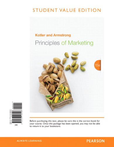 9780133128246: Principles of Marketing, Student Value Edition (15th Edition)