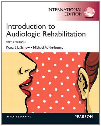 9780133128956: Introduction to Audiologic Rehabilitation Pie No Us Sale