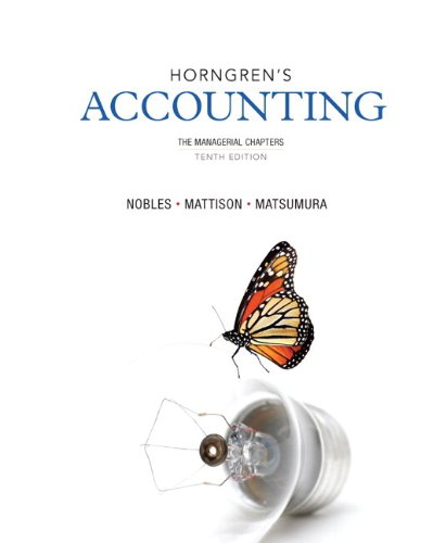 9780133129519: Horngren's Accounting, The Managerial Chapters and NEW MyAccountingLab with eText -- Access Card Package