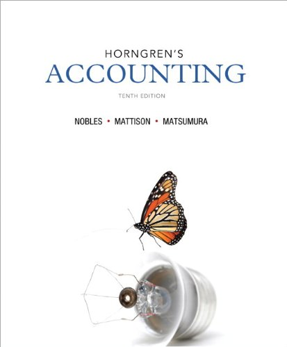 Horngren's Accounting and NEW MyAccountingLab with eText: Tracie L. Nobles,