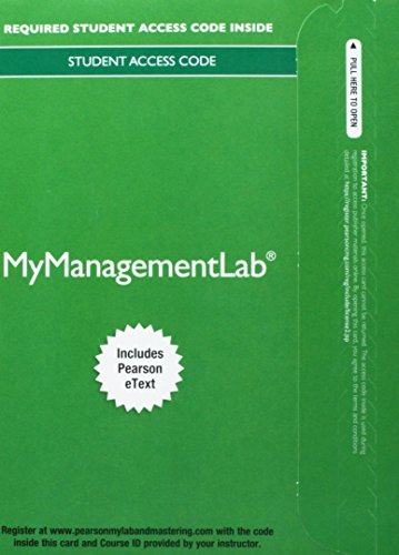9780133134674: MyManagementLab with Pearson eText -- Standalone Access Card - for Developing Management Skills