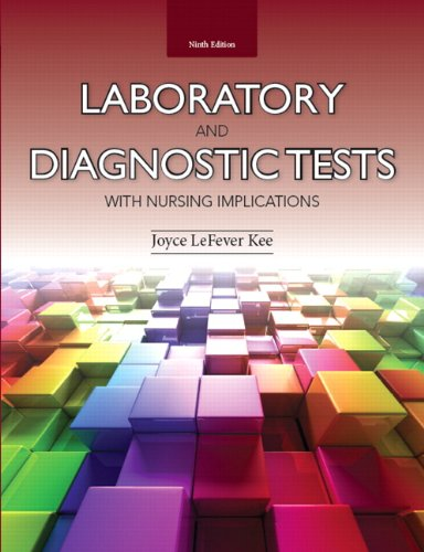 9780133139051: Kee: Labor Diagn Tests Nursi Impl_p9 (9th Edition) (Laboratory and Diagnostic Tests)