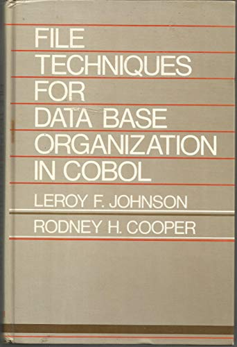 9780133140392: File techniques for data base organization in COBOL