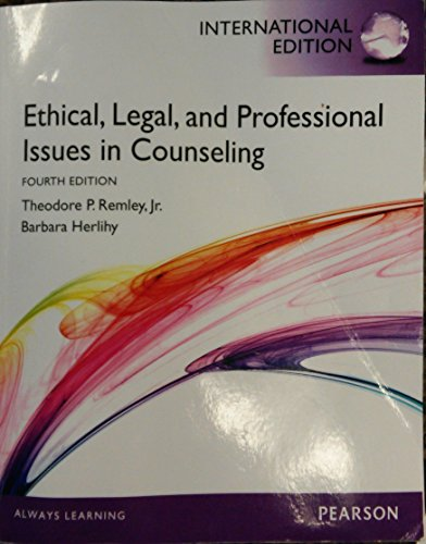 9780133143676: Ethical, Legal, and Professional Issues in Counseling International Edition