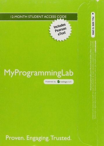 MyProgrammingLab with Pearson eText -- Access Card -- for C++ How to Program (Early Objects Version) (0133146146) by Paul Deitel; Harvey Deitel