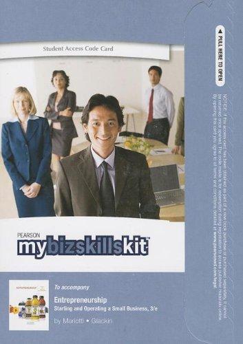 9780133146929: MyBizSkillsKit -- Updated Standalone Access Code -- for Entrepreneurship: Starting and Operating a Small Business