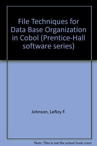 9780133147179: File Techniques for Data Base Organization in Cobol