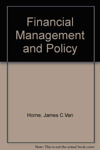 9780133153095: Financial Management and Policy