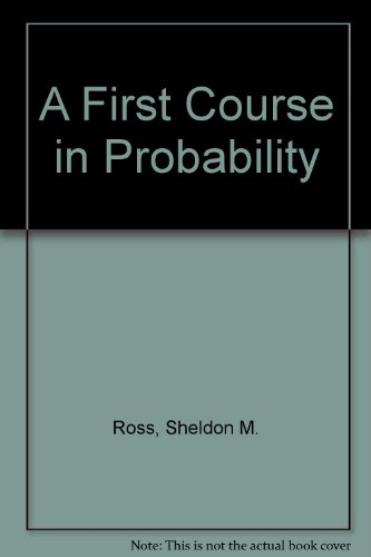 9780133153910: A First Course in Probability