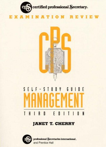 9780133154580: Self Study Guide for Cps: Exam Review for Management
