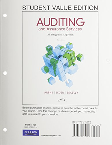9780133156218: Auditing and Assurance Services, Student Value Edition Plus NEW MyAccountingLab with Pearson eText -- Access Card Package
