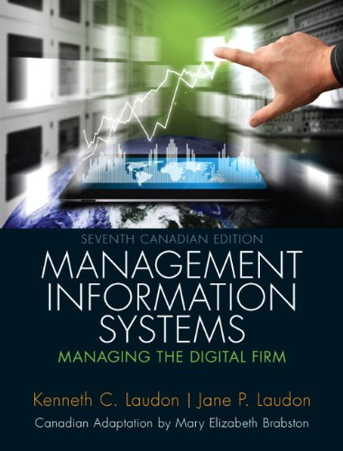9780133156843: Management Information Systems: Managing the Digital Firm, Seventh Canadian Edition (7th Edition)