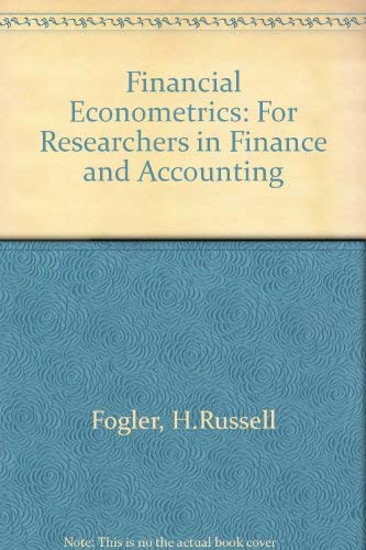 9780133158878: Financial Econometrics: For Researchers in Finance and Accounting