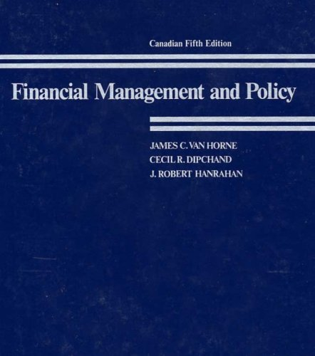 Financial Management and Policy: James C. Van