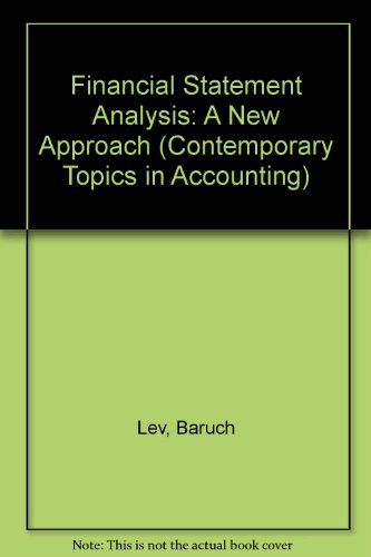 9780133162653: Financial Statement Analysis: A New Approach (Contemporary Topics in Accounting)