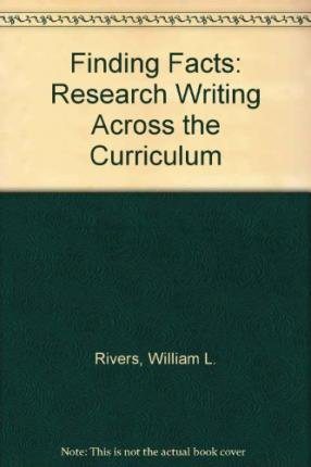 9780133168457: Finding Facts: Research Writing Across the Curriculum (2nd Edition)
