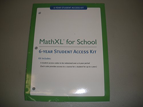 9780133171358: MathXL For School 6-Year Student Access Kit
