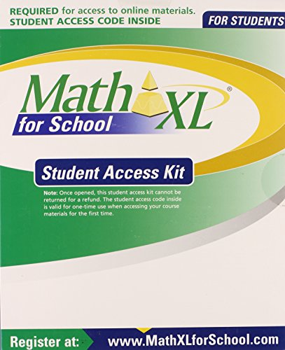 9780133171365: MathXL for School Student Access Kit
