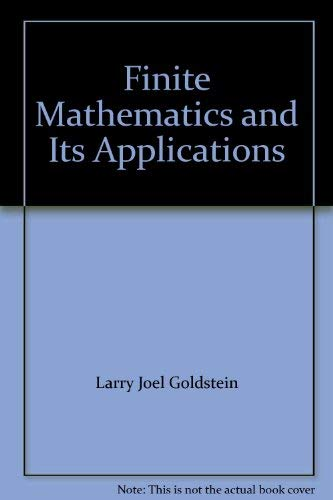 9780133172638: Finite Mathematics and Its Applications