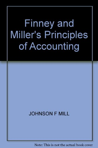 9780133175943: Finney and Miller's Principles of Accounting: Working Papers