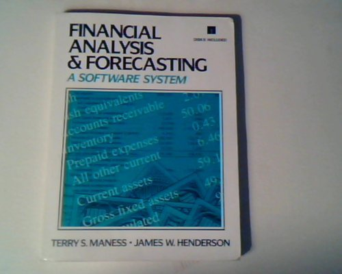9780133177855: Financial Analysis and Forecasting: A Software System/Book and Disk