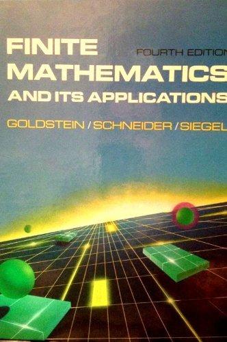 9780133178272: Finite Mathematics and Its Applications
