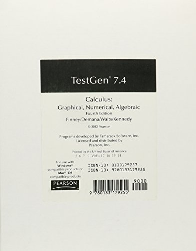 9780133179255: CALCULUS 2012 TEST GENERATOR ON CD GRADE 11/12