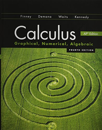 CALCULUS 2012 STUDENT EDITION (FINNEY/DEMANA/WAITS/KENNEDY) WITH MATHMXLFOR: HALL, PRENTICE