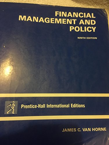 Financial Management and Policy: Horne, J C V