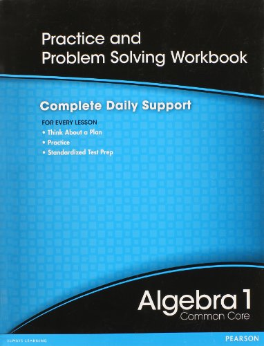9780133185614: Alebra 1 Common Core Practice and Problem Solving Workbook: Complete Daily Support