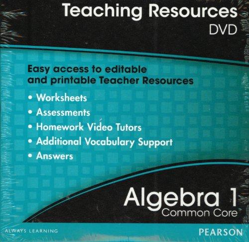9780133185638: Teaching Resources DVD Algebra 1 ISBN 013318563X