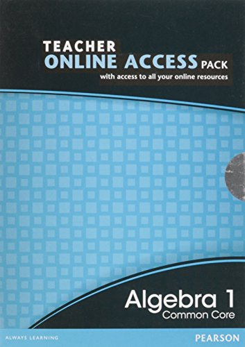 9780133185645: HIGH SCHOOL MATH 2012 COMMON CORE ALGEBRA 1 TEACHER ONLINE ACCESS PACK GRADE 8/9