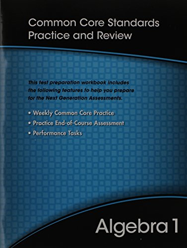 9780133185676: HIGH SCHOOL MATH 2012 COMMON-CORE ALGEBRA 1 TEST PREP WORKBOOK GRADE 8/9
