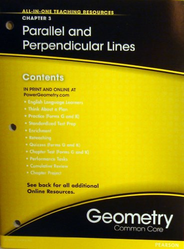 9780133185713: Parallel and Perpendicular Lines Chapter 3 (All-In-One Teaching Resources Geometry Common Core)