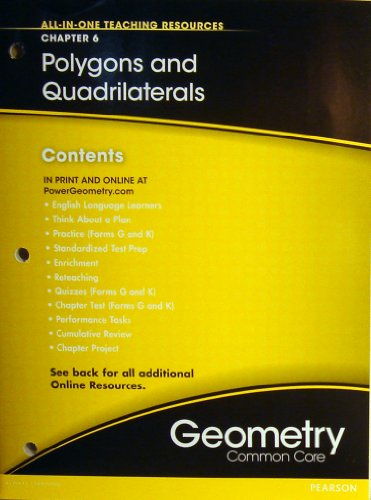 9780133185744: Polygons and Quadrilaterals Chapter 6 (All-In-One Teaching Resources Geometry Common Core)