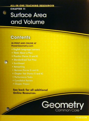 9780133185805: Surface Area and Volume Chapter 11 (All-In-One Teaching Resources Geometry Common Core)