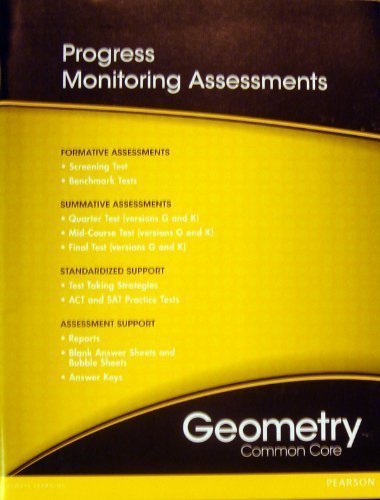 9780133185973: Geometry Common Core Standards Practice and
