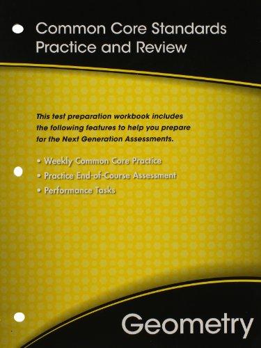 9780133185980: HIGH SCHOOL MATH COMMON-CORE GEOMETRY TEST PREP WORKBOOK GRADE 9/10