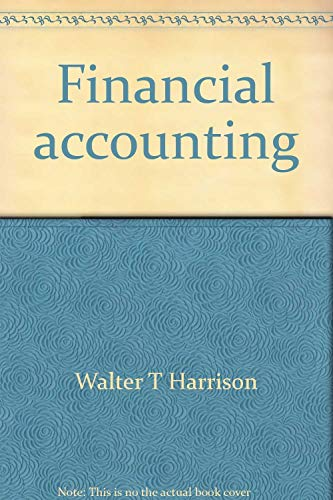 Financial accounting: Annotated instructor's edition (Prentice Hall: Harrison, Walter T