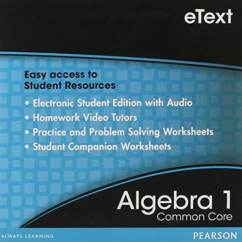9780133188424: eText Algebra 1 Student Edition DVD: Common Core