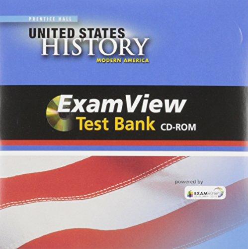 HIGH SCHOOL UNITED STATES HISTORY 2013 MODERN EXAMVIEW TEST BANK CD-ROM GRADE 10/12: PRENTICE ...