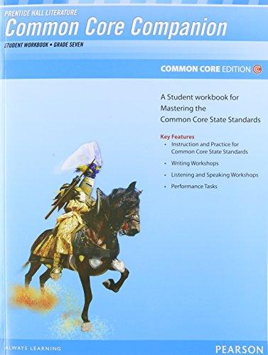 9780133190649: PRENTICE HALL LITERATURE 2012 COMMON CORE STUDENT WORKBOOK GRADE 7