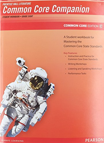 9780133190656: PRENTICE HALL LITERATURE 2012 COMMON CORE STUDENT WORKBOOK GRADE 8