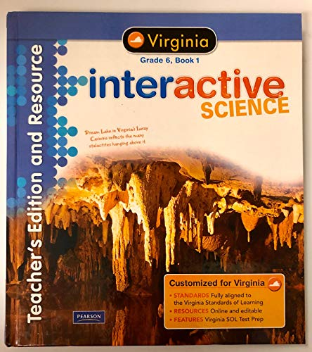 9780133198256: Interactive Science Virginia Ed., Grade 6, Book 1 Teacher's Edition and Resource