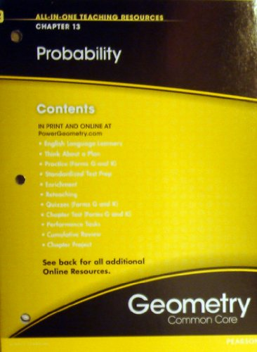 9780133198553: Probability Chapter 13 (All-In-One Teaching Resources Geometry Common Core)