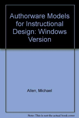 9780133202359: Authorware Academic Models for Instructional Design for Windows