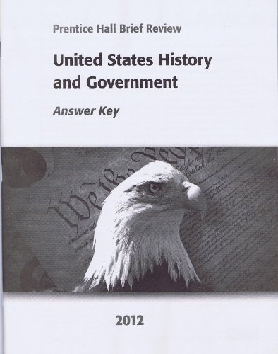 9780133203332: United States History and Government 2012 Answer Key (Prentice Hall Brief Review)