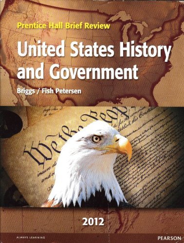 9780133203363: United States History and Government 2012 (Prentice Hall Brief Review)
