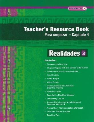9780133203776: Realidades 3 Teacher's Resource Book Para Empezar - Capitulo 4