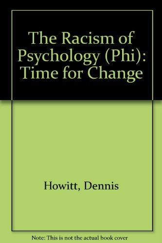 9780133206807: The Racism of Psychology: Time for Change